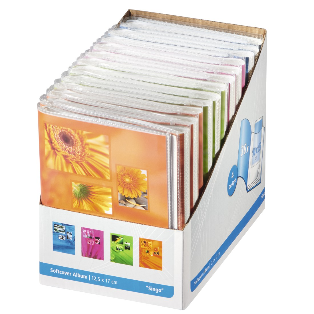 dex High-Res Detail - Hama, Singo Softcover Album, for 36 photos with a size of 10x15 cm, assorted