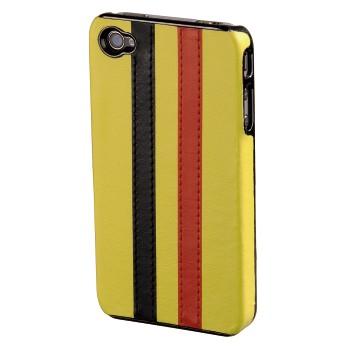 abb Image - Hama, Stripe Mobile Phone Cover for Apple iPhone 4, yellow/black/red