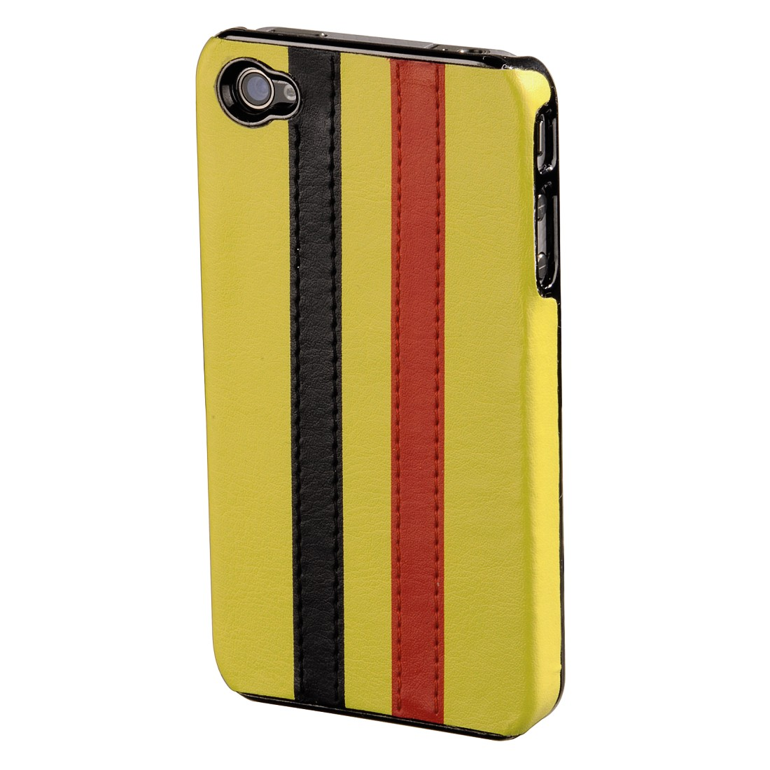 abx High-Res Image - Hama, Stripe Mobile Phone Cover for Apple iPhone 4, yellow/black/red
