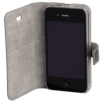 awd Appliance - Hama, Liquid Wood Mob. Phone Wind. Case f. iPhone 4/4S, hor., l.grey/d.grey
