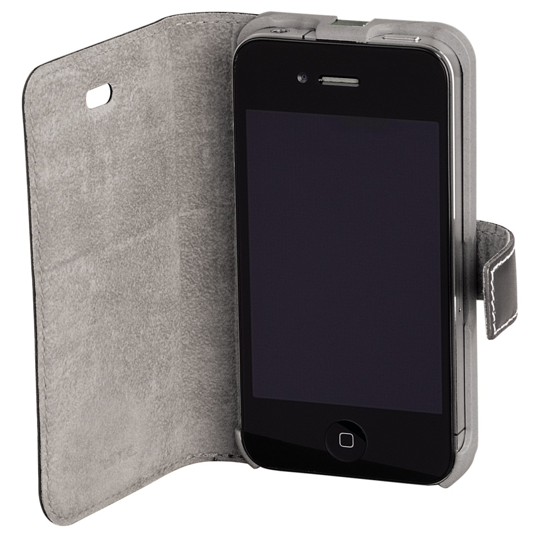 awx High-Res Appliance - Hama, Liquid Wood Mob. Phone Wind. Case f. iPhone 4/4S, hor., l.grey/d.grey