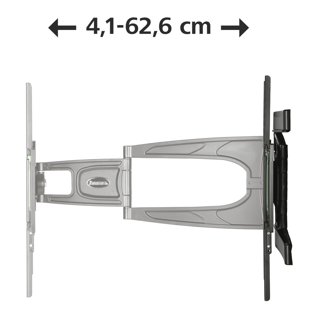 "dex3 High-Res Detail 3 - Hama, Ultraslim FULLMOTION TV Wall Bracket, 3 Stars, 165cm (65""), 2 Arm, black"