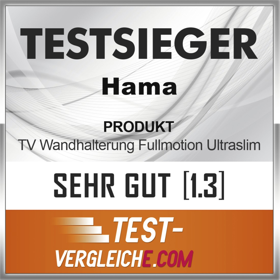 "tex2 Druckfähiges Testurteil 2 - Hama, Ultraslim FULLMOTION TV Wall Bracket, 3 Stars, 165cm (65""), 2 Arm, black"