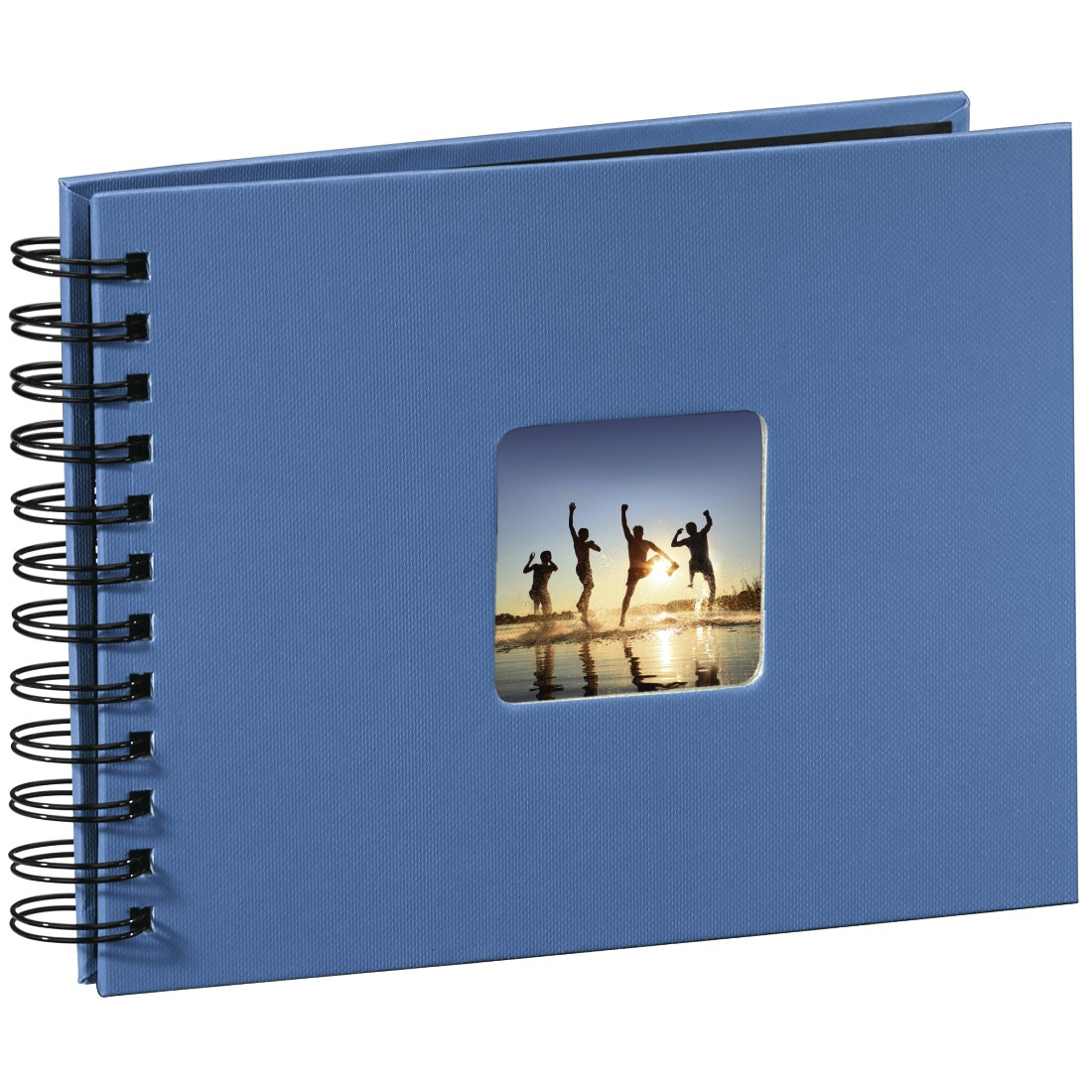 abx2 High-Res Image 2 - Hama, Fine Art Spiral Bound Album, 24 x 17 cm, 50 black pages, azure