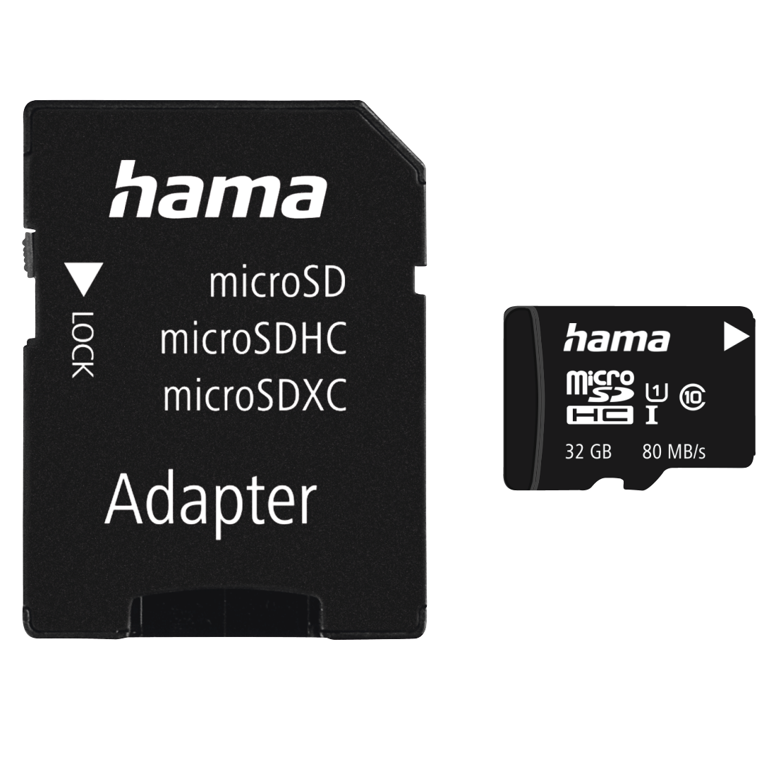 abx High-Res Image - Hama, microSDHC 32GB Class 10 UHS-I 80MB/s + Adapter/Mobile