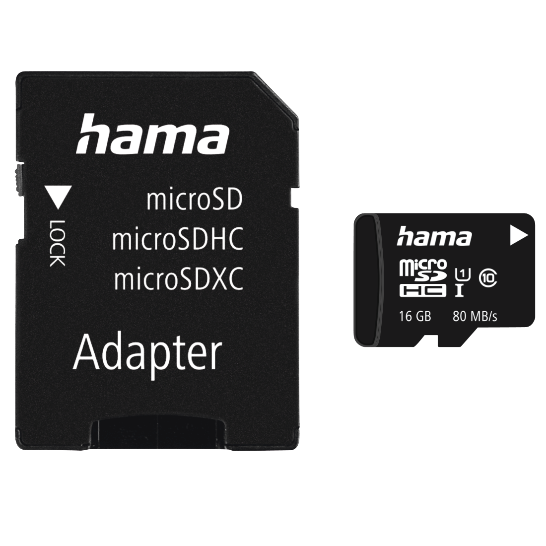 abx High-Res Image - Hama, microSDHC 16GB Class 10 UHS-I 80MB/s + Adapter/Photo