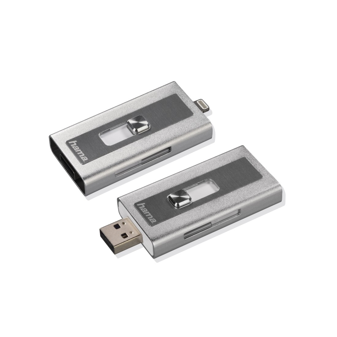 abx5 High-Res Image 5 - Hama, MoveData Lightning USB Card Reader, microSD, silver