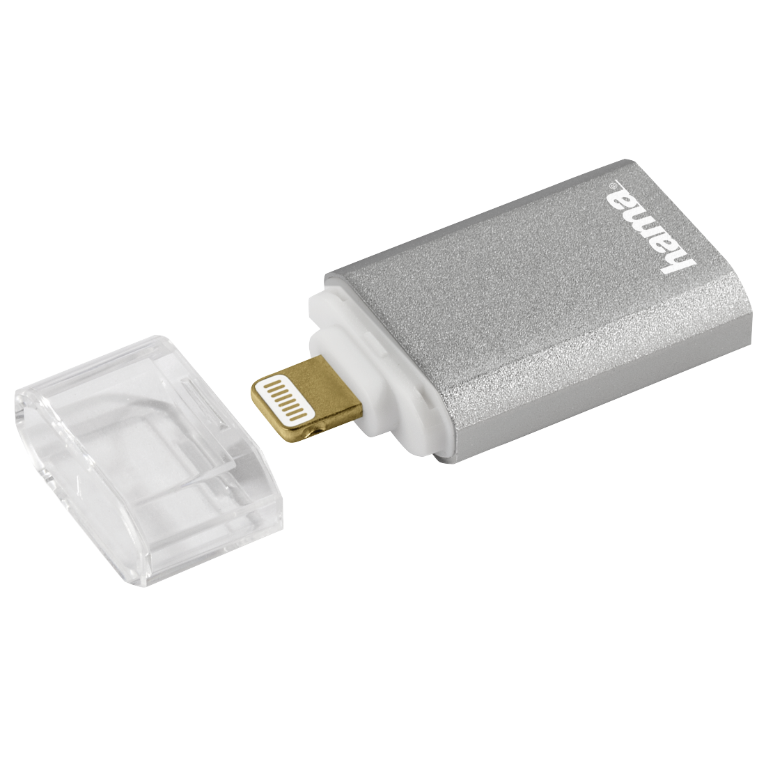 "abx2 High-Res Image 2 - Hama, ""Save2Data mini"" Lightning Card Reader, microSD, silver"
