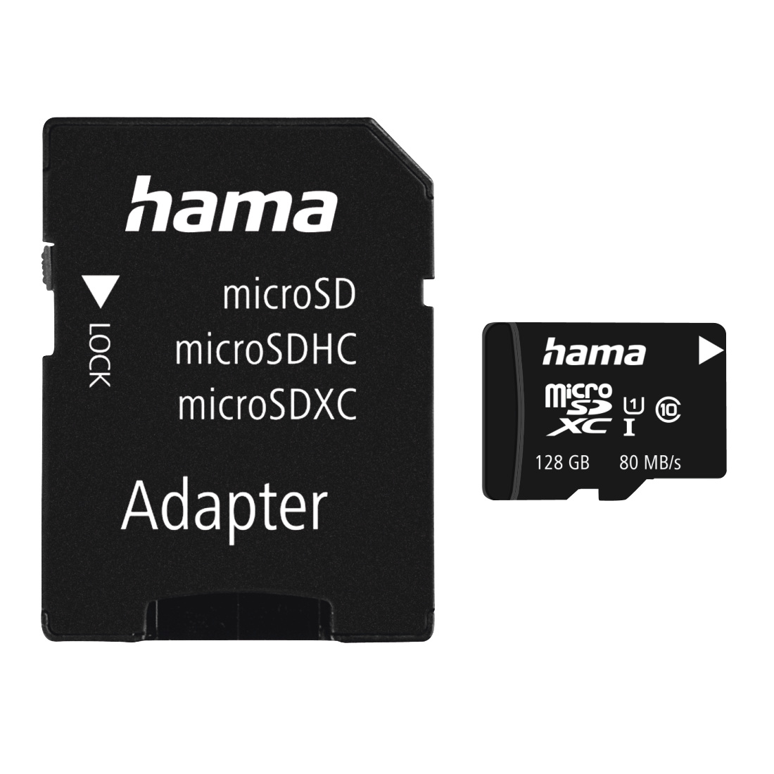 abx High-Res Image - Hama, microSDXC 128GB Class 10 UHS-I 80MB/s + Adapter/Photo
