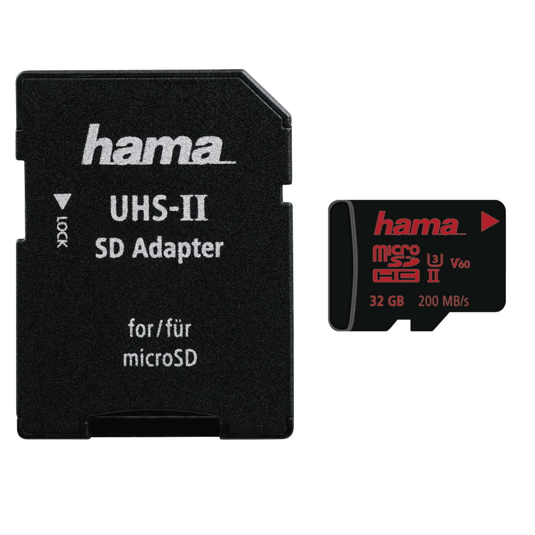abx High-Res Image - Hama, microSDHC 32GB UHS Speed Class 3 UHS-II 200MB/s + Adapter/Mobile