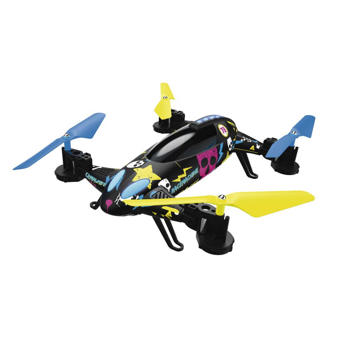 "abx High-Res Image - Hama, ""Racemachine"" 2-in-1 Quadrocopter/RC Car, 6-Axis Gyro-Sensor, 720p Camera"