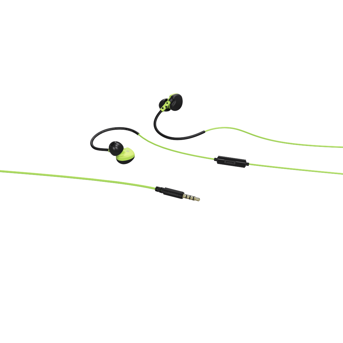abx3 High-Res Image 3 - Hama, Run Clip-On Sport Earphones, black/green
