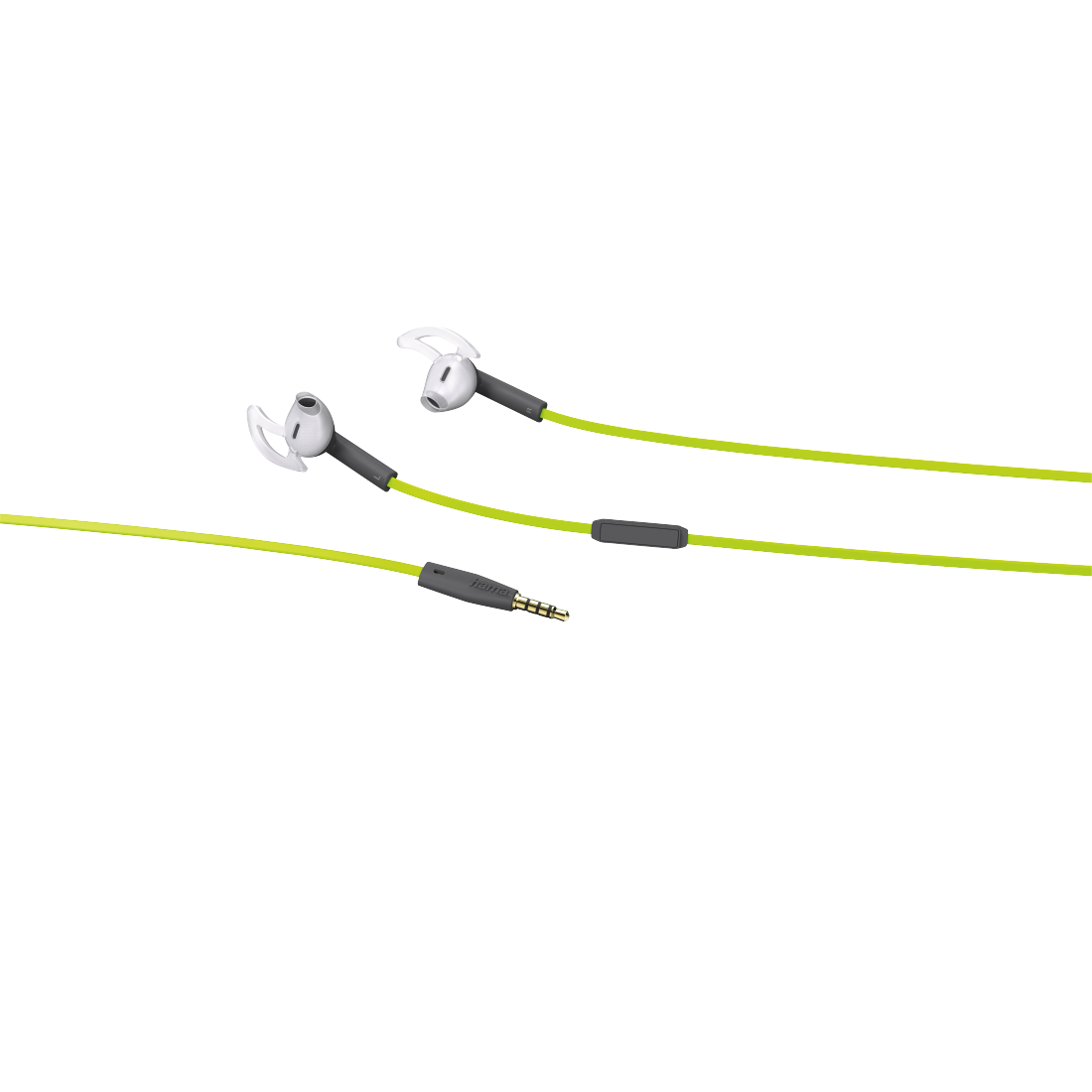 abx2 High-Res Image 2 - Hama, Action + Stereo Earphones, green/grey