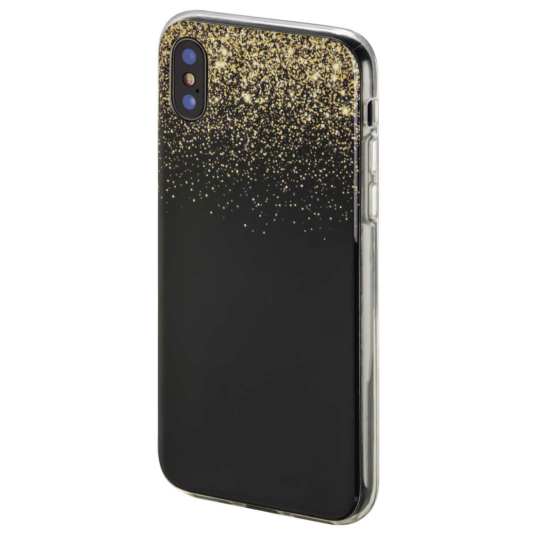 "abx2 High-Res Image 2 - Hama, ""Golden Rain"" Cover for Apple iPhone X, black/gold"