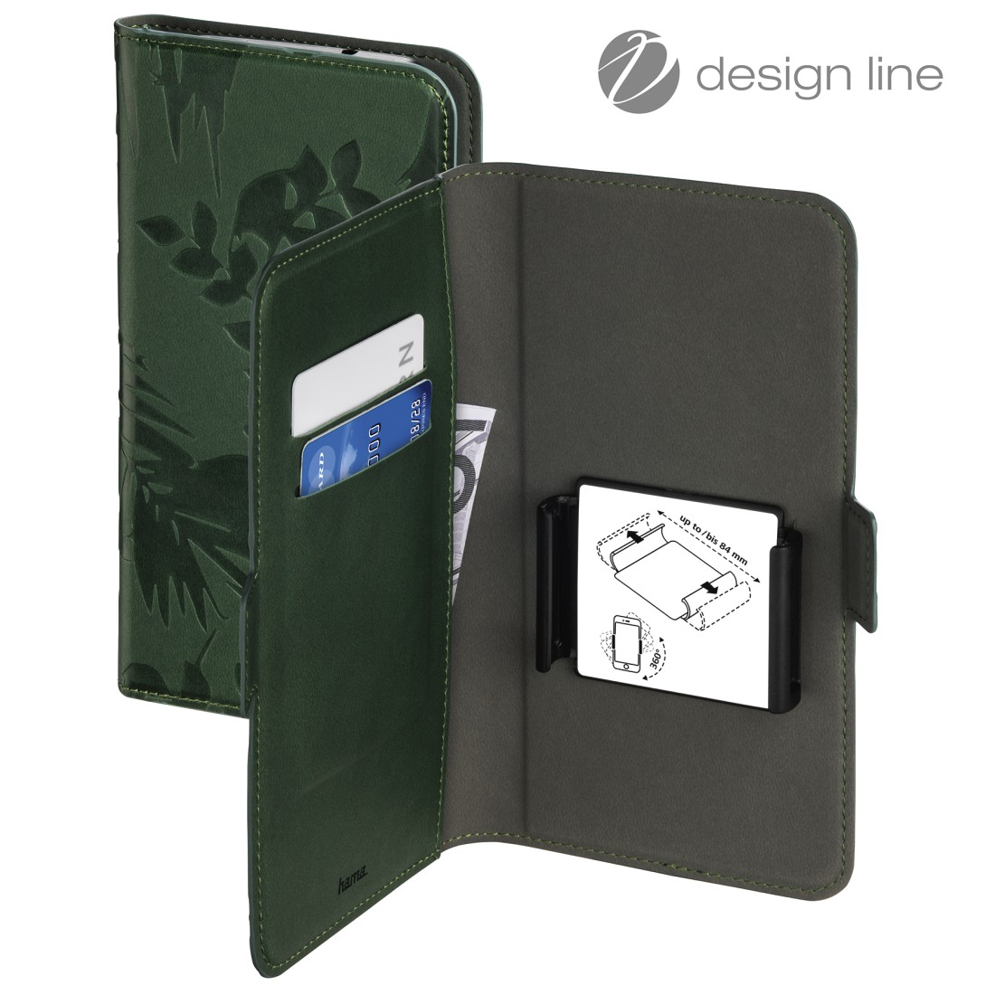 uax Printable Image Logo - Hama, Smart Move - Jungle Leaves Booklet, size XXL (5.1 – 5.8), dark green