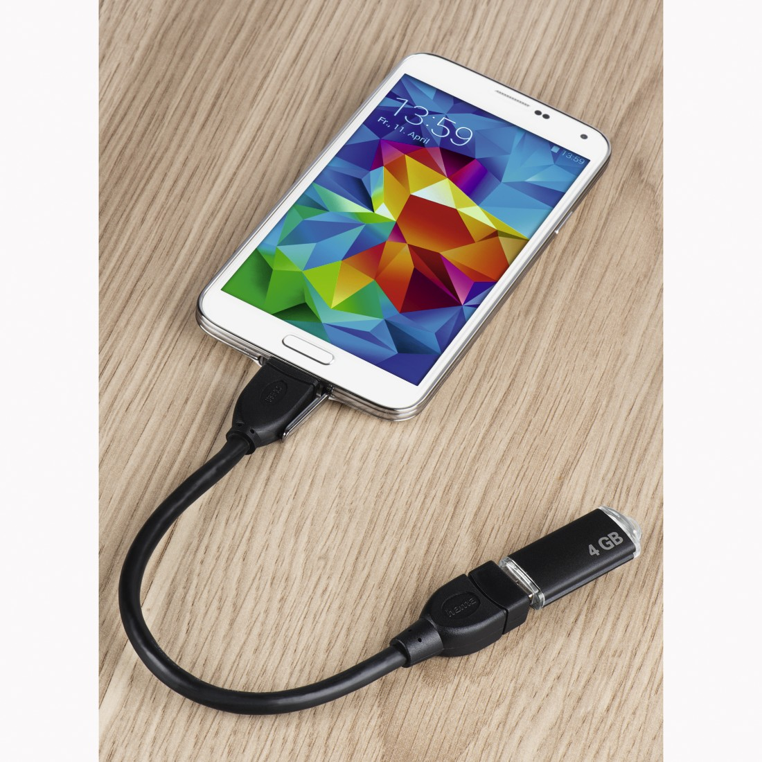 awx2 High-Res Appliance 2 - Hama, USB 2.0 Adapter Cable, OTG, micro B plug - A socket, 15 cm, black