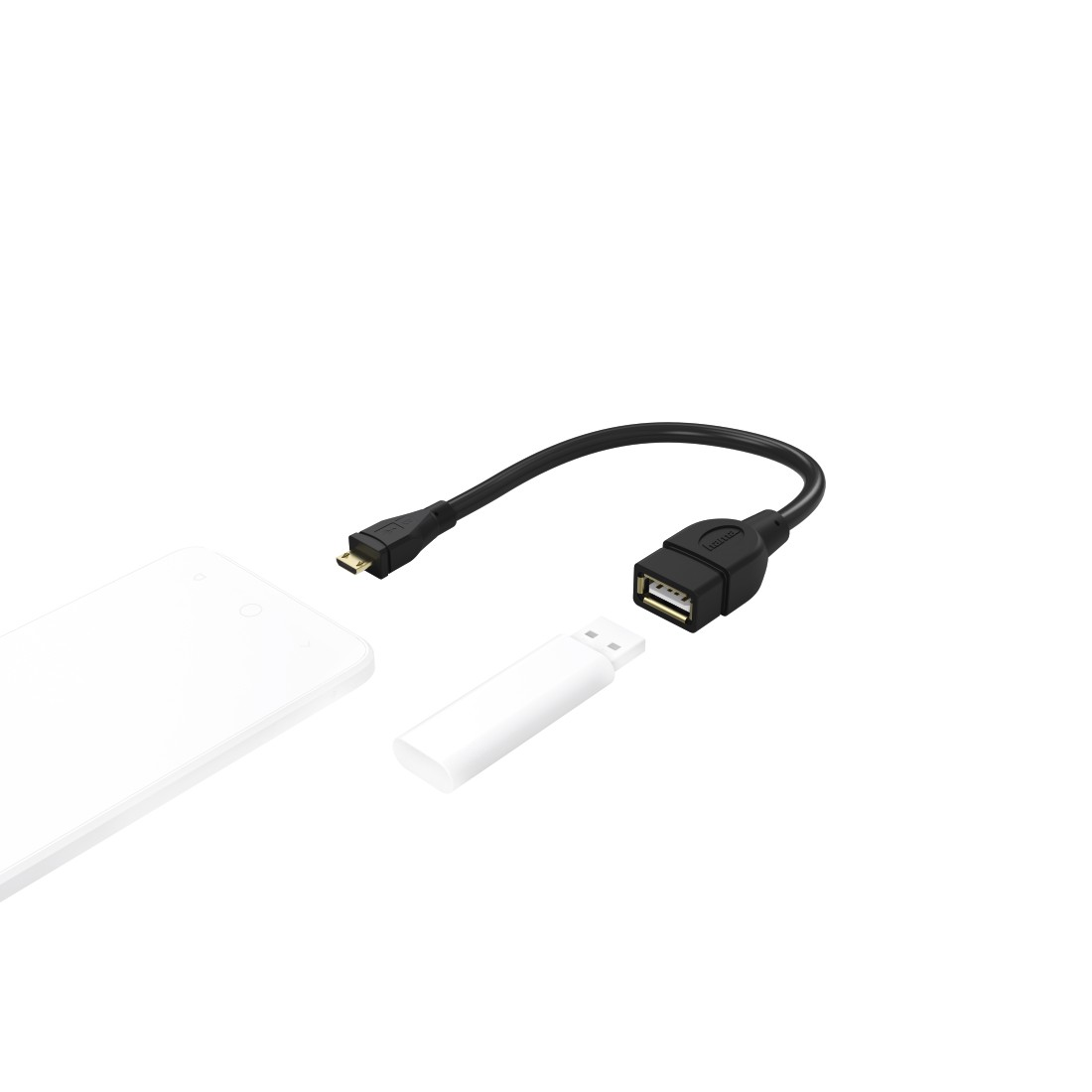 awx3 High-Res Appliance 3 - Hama, USB 2.0 Adapter Cable, OTG, micro B plug - A socket, 15 cm, black