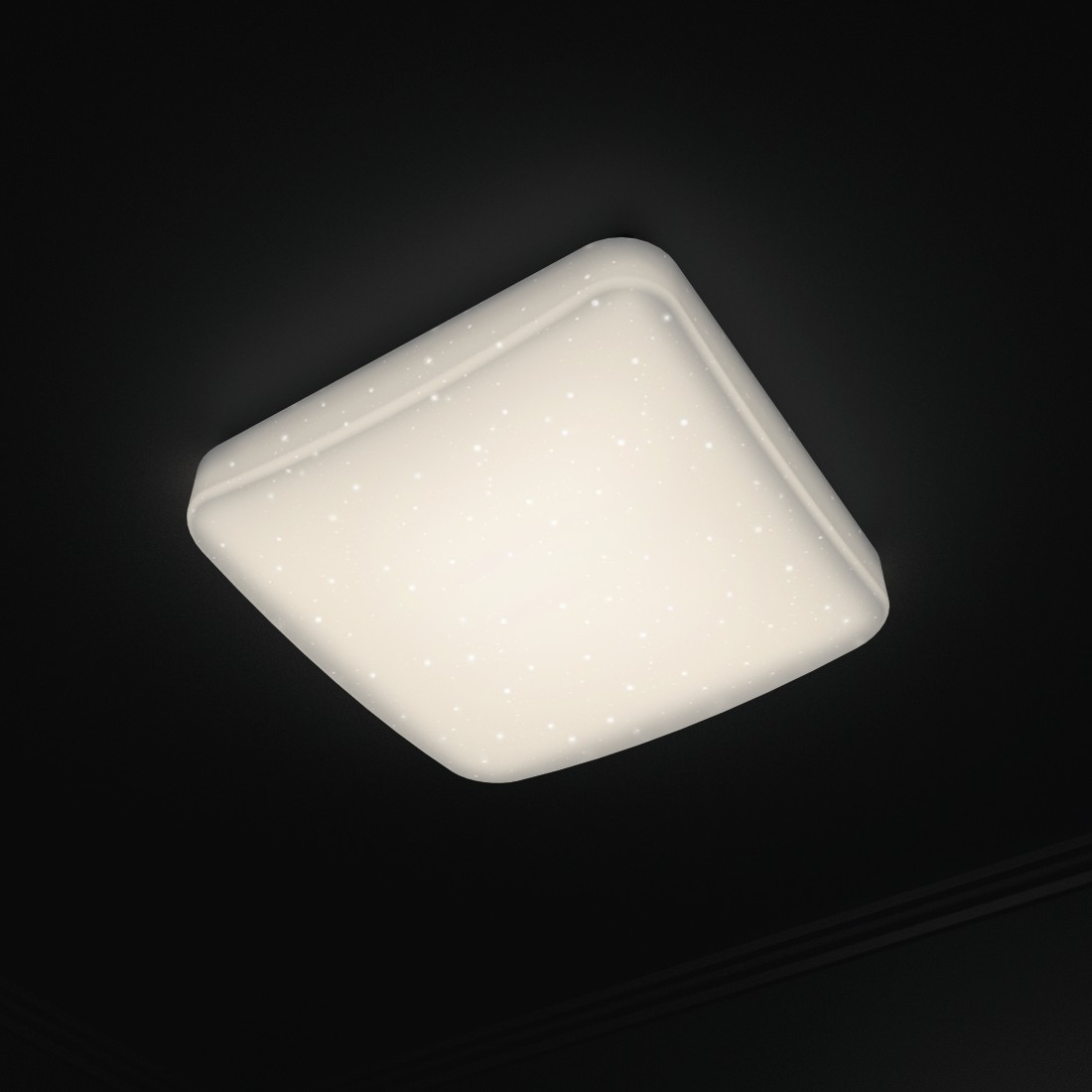 awx4 High-Res Appliance 4 - Hama, WiFi Ceiling Light, Glitter Effect, Square, 27 cm