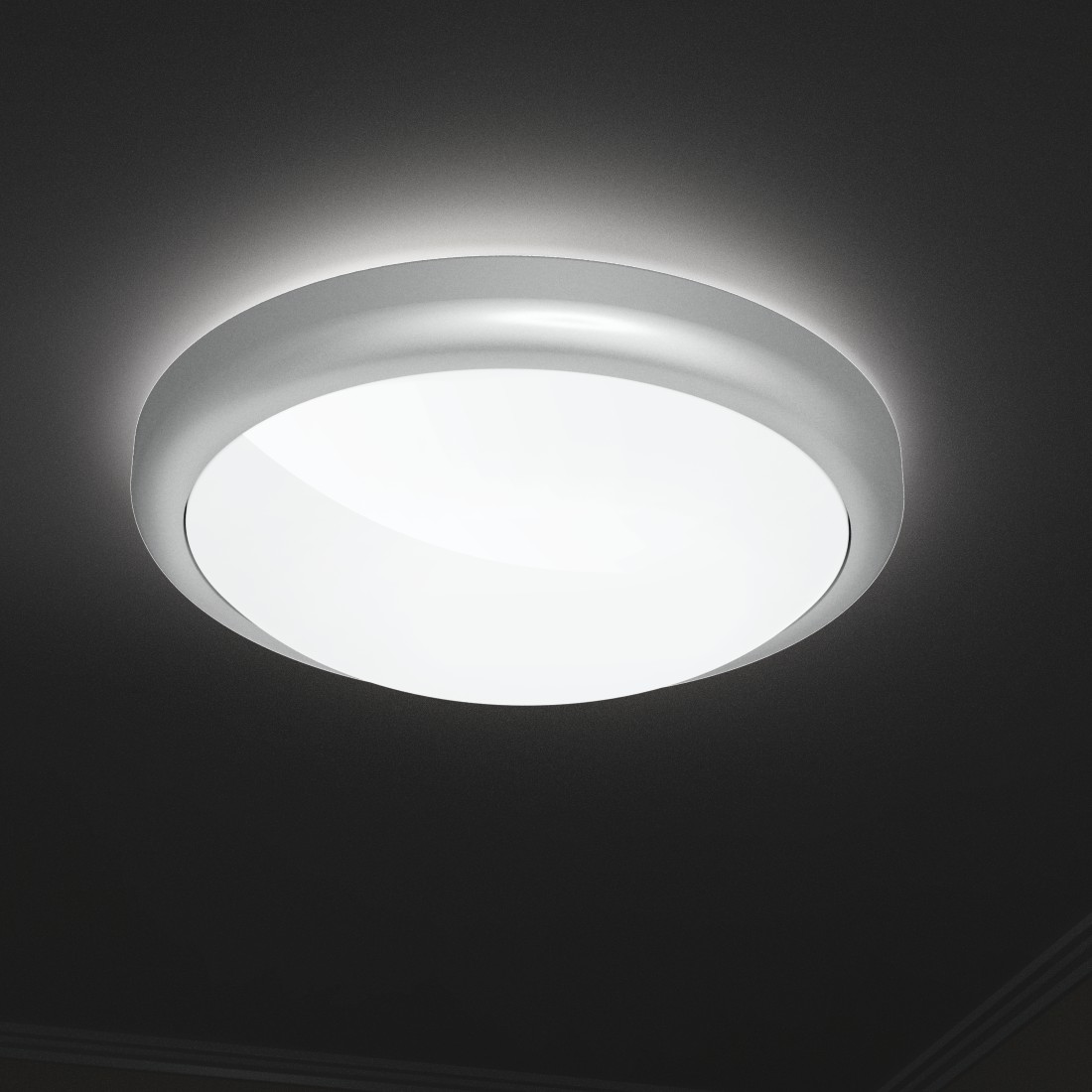 "awx4 High-Res Appliance 4 - Hama, ""Design"" Smart Home Ceiling Light, without Hub, Voice / App Control, metal"