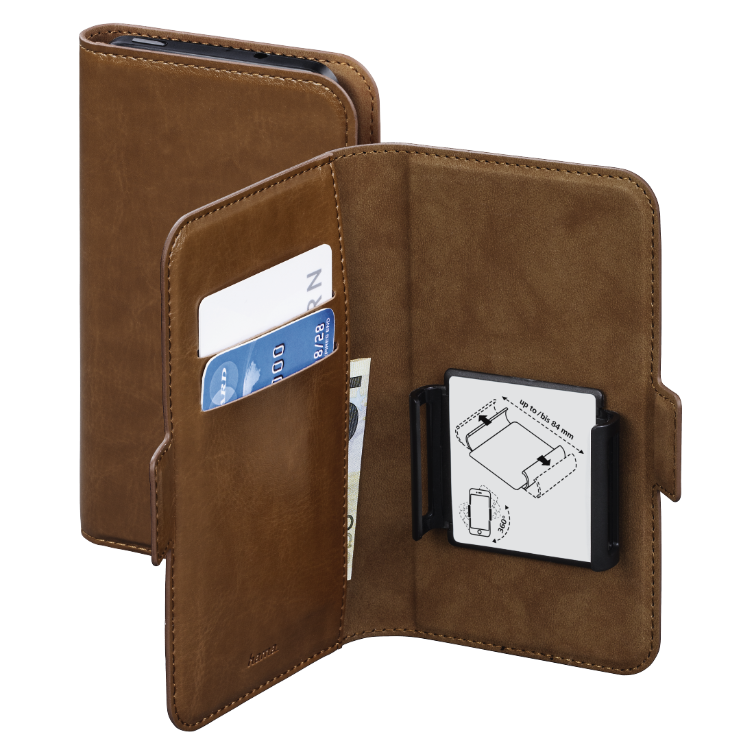 abx High-Res Image - Hama, Smart Move Booklet Case, size XL (4.7 - 5.1), brown