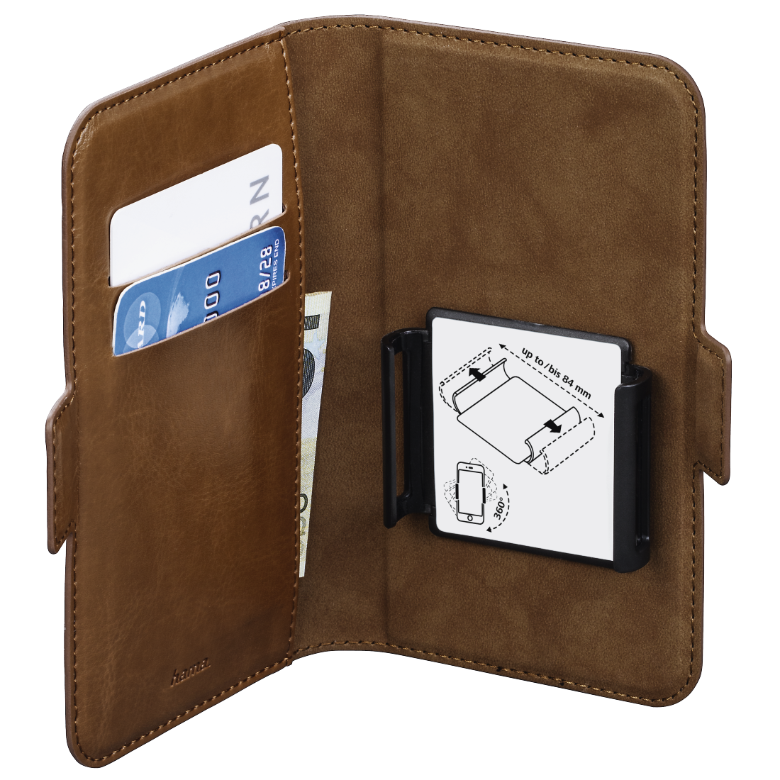 abx3 High-Res Image 3 - Hama, Smart Move Booklet Case, size XL (4.7 - 5.1), brown