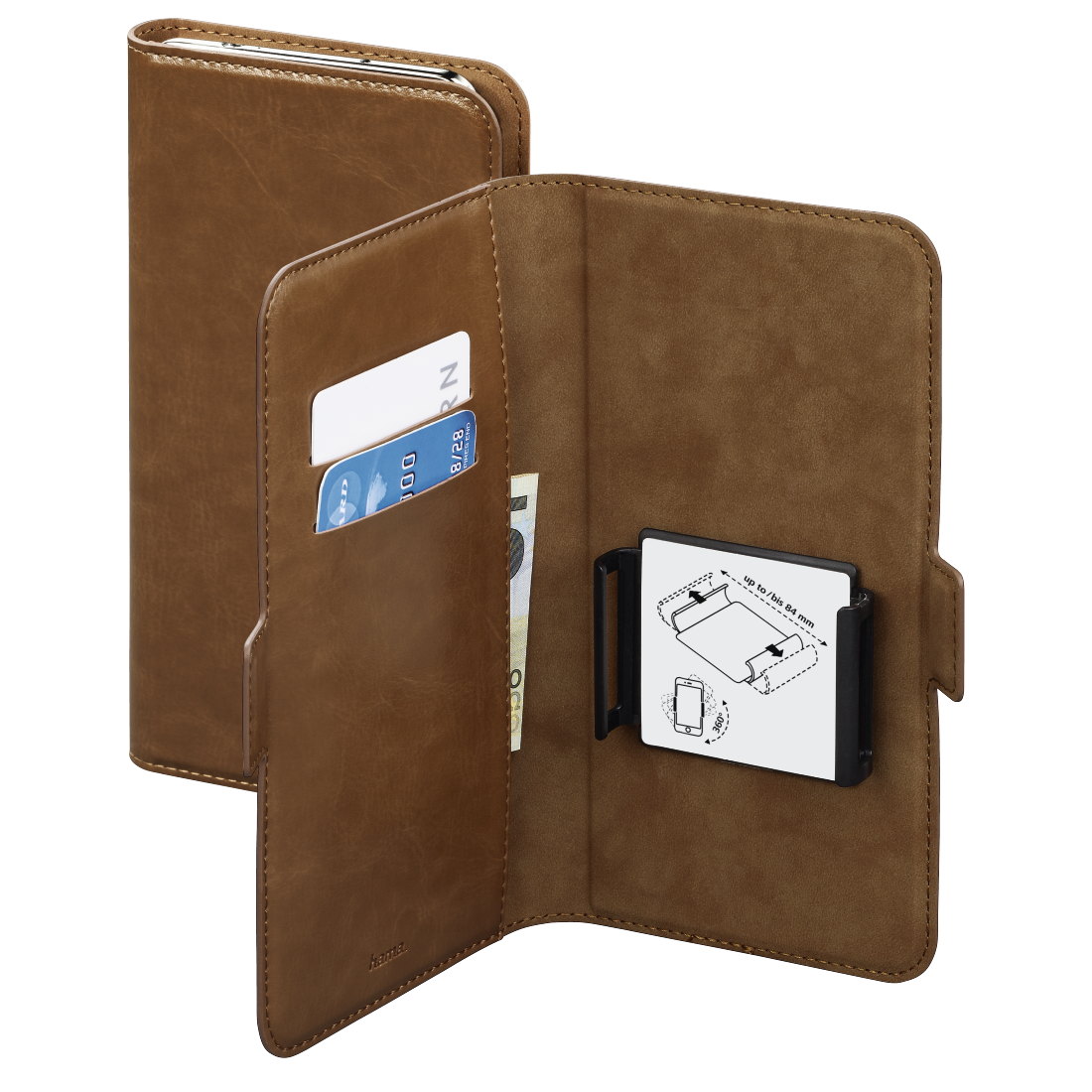 abx High-Res Image - Hama, Smart Move Booklet Case, size XXL (5.2 - 5.8), brown