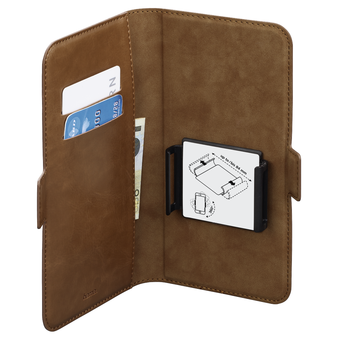 abx3 High-Res Image 3 - Hama, Smart Move Booklet Case, size XXL (5.2 - 5.8), brown