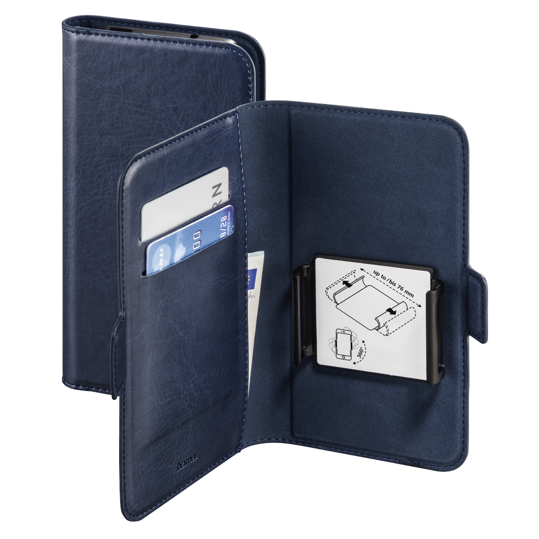 abx High-Res Image - Hama, Smart Move Booklet Case, size L (4.0 - 4.5), blue