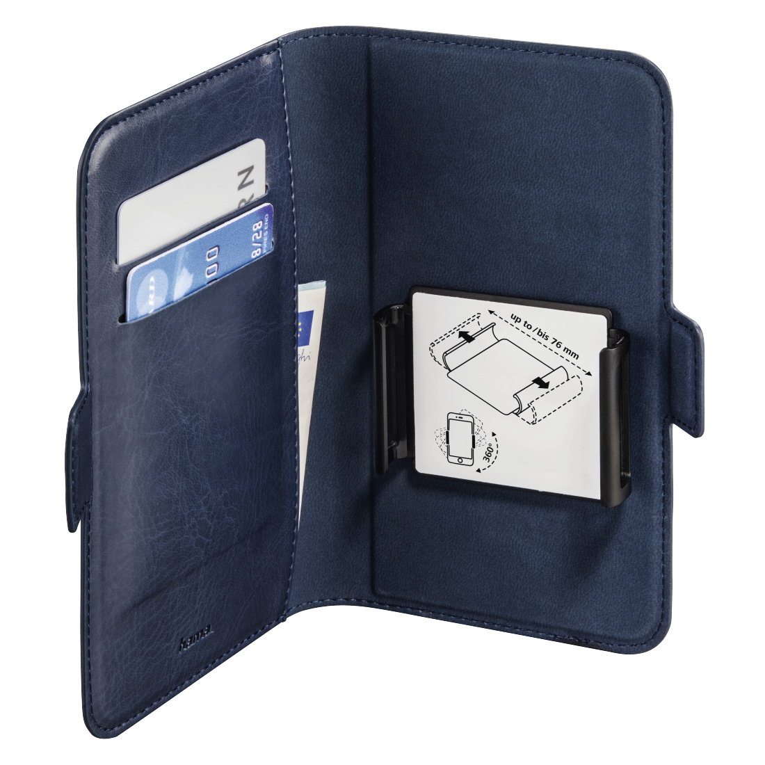 abx3 High-Res Image 3 - Hama, Smart Move Booklet Case, size L (4.0 - 4.5), blue