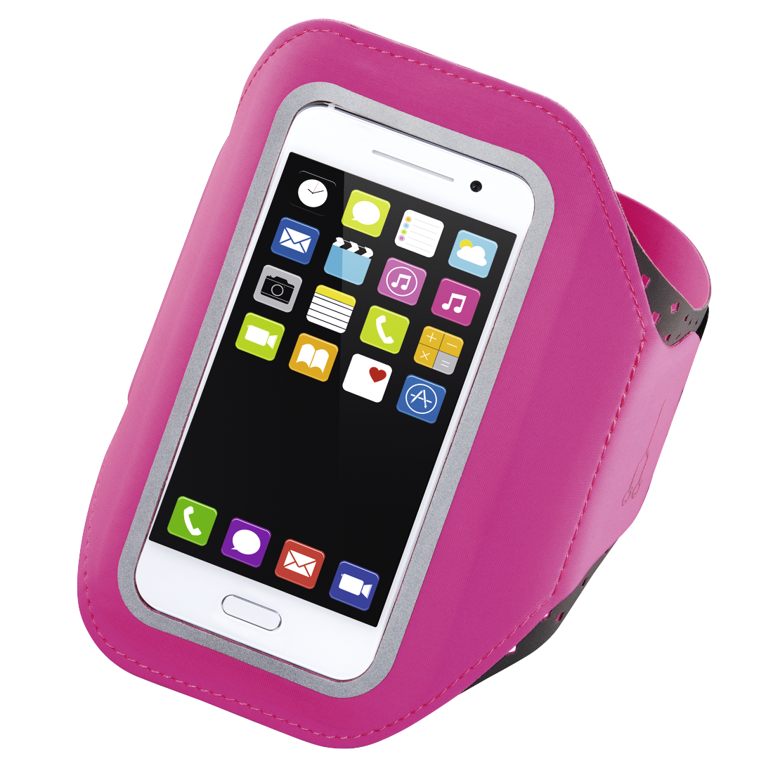 "abx High-Res Image - Hama, ""Running"" Sports Arm Band for Smartphones, Size XXL, pink"