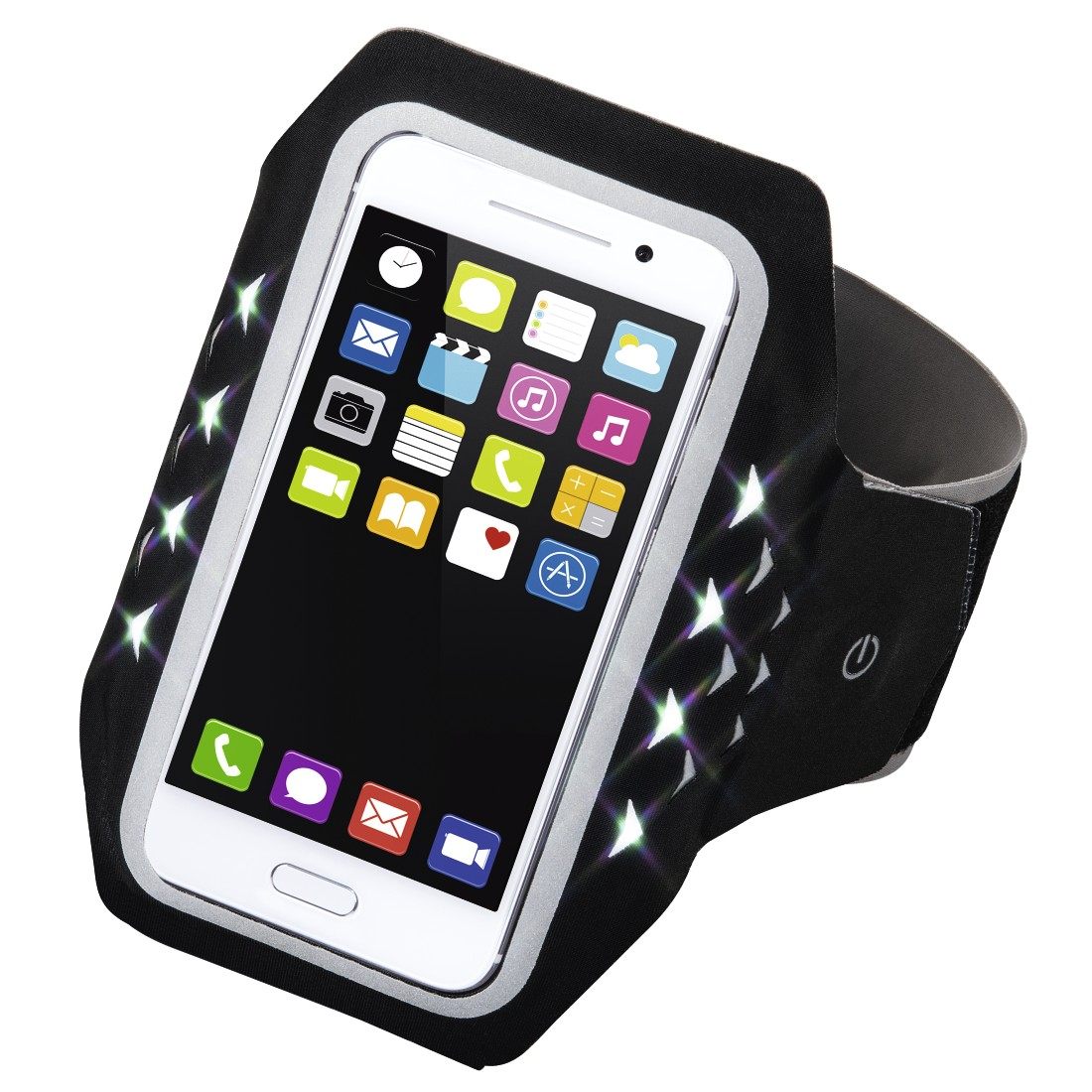 "abx High-Res Image - Hama, ""Running"" Sports Arm Band for Smartphones, Size XL, with LED, black"