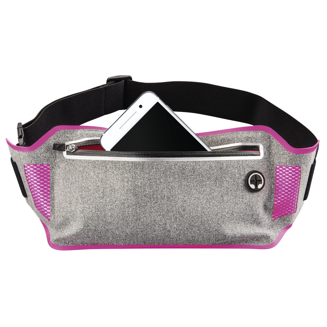 abx2 High-Res Image 2 - Hama, Running Sports Hip Pouch for Smartphones, grey/pink