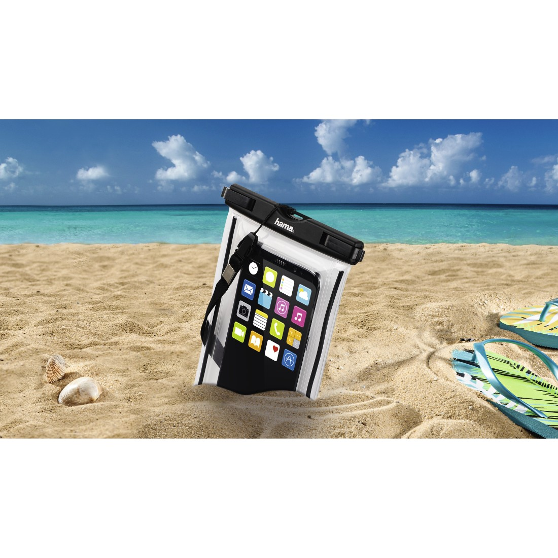 "awx High-Res Appliance - Hama, ""Playa"" Outdoor Bag for Smartphones, Size XXL, black"