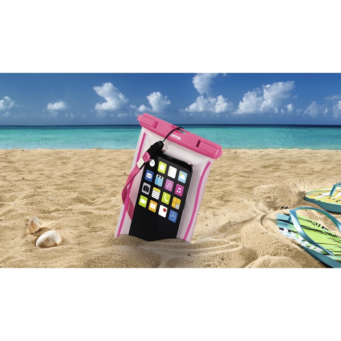 awx High-Res Appliance - Hama, Playa Outdoor Bag for Smartphones, Size XXL, pink