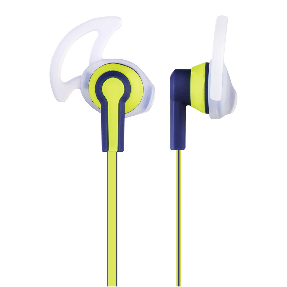 "dex High-Res Detail - Hama, ""Reflective"" Stereo Earphones, blue/yellow"