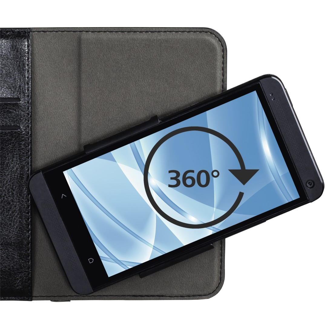 "dex High-Res Detail - Hama, ""Smart Move"" Booklet Case, size XXL (5.2 - 5.8""), black"