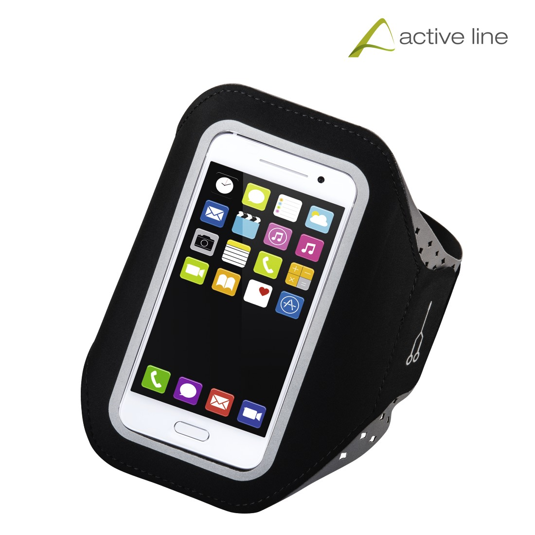 "uax Printable Image Logo - Hama, ""Running"" Sports Arm Band for Smartphones, Size XL, black"