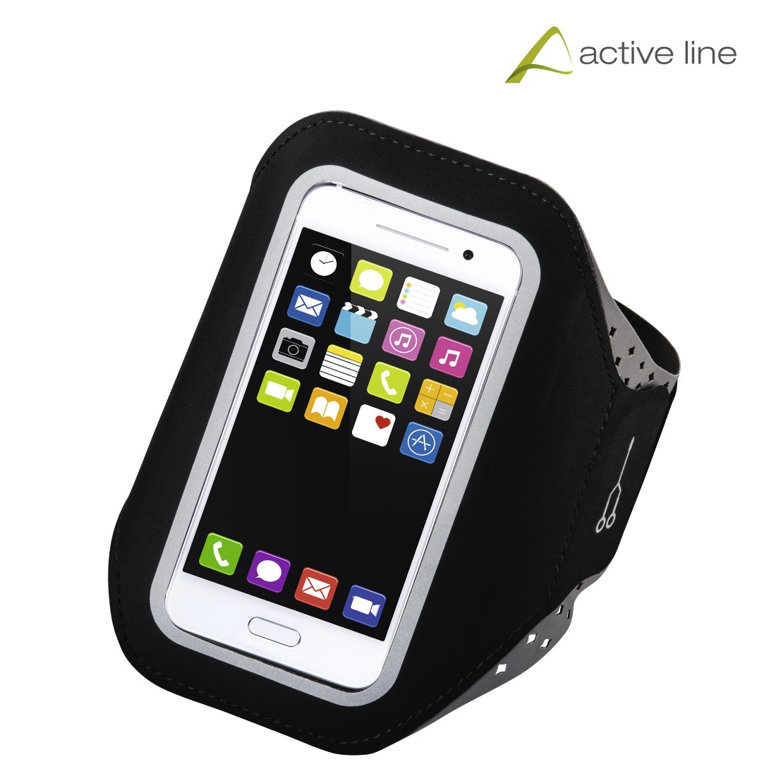 "uax Printable Image Logo - Hama, ""Running"" Sports Arm Band for Smartphones, Size XXL, black"