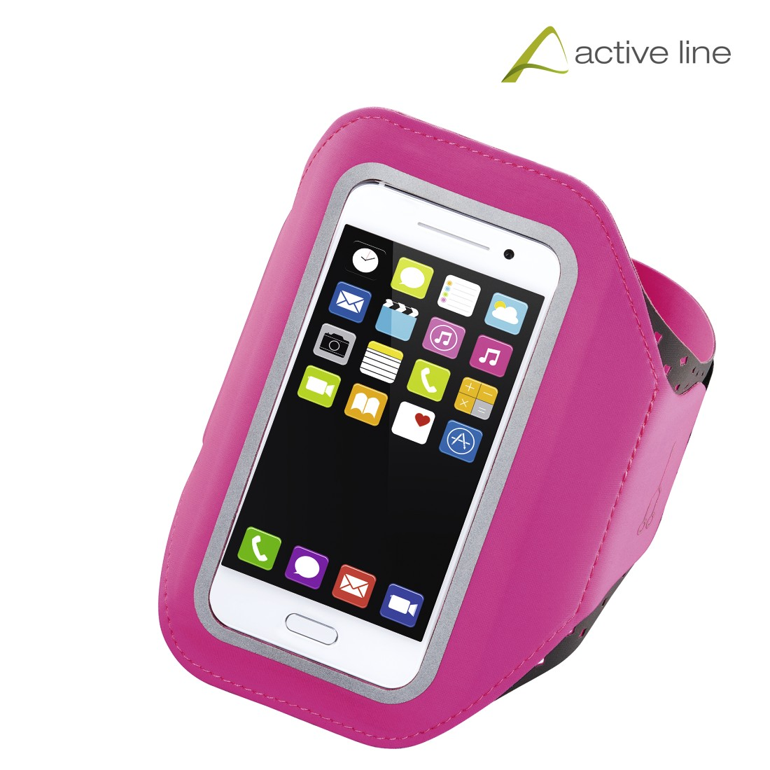 "uax Printable Image Logo - Hama, ""Running"" Sports Arm Band for Smartphones, Size XXL, pink"