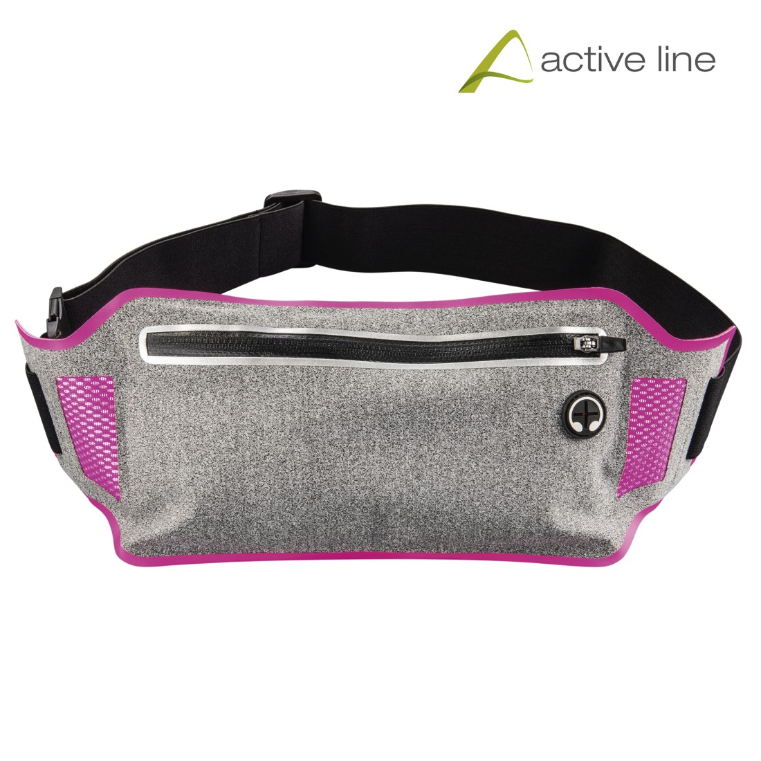 uax Printable Image Logo - Hama, Running Sports Hip Pouch for Smartphones, grey/pink