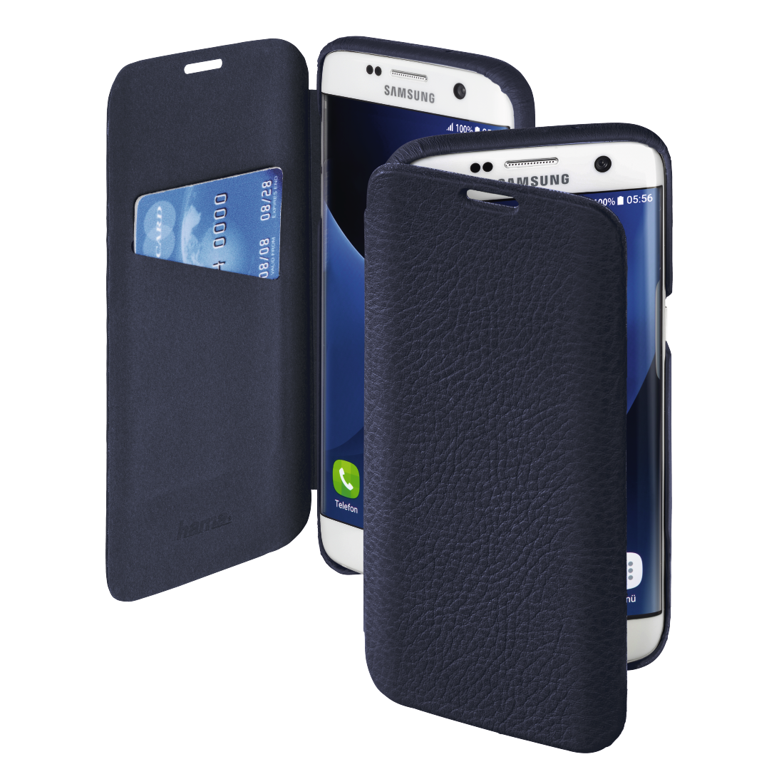 abx High-Res Image - Hama, Ricardo Booklet Case for Samsung Galaxy S7 edge, blue