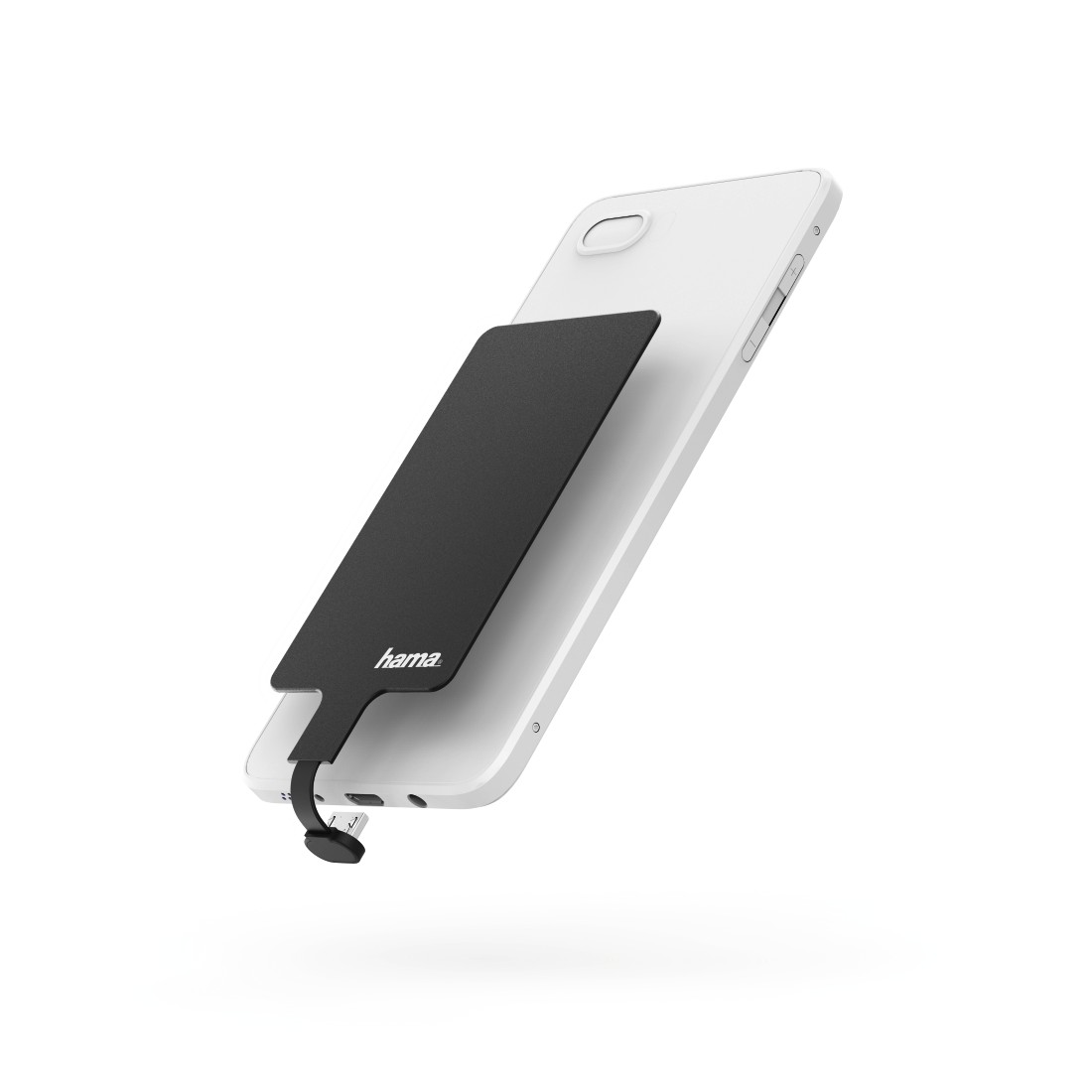 abx High-Res Image - Hama, Wireless Charging Adapter for Smartphones, Micro-USB, 800 mA, black