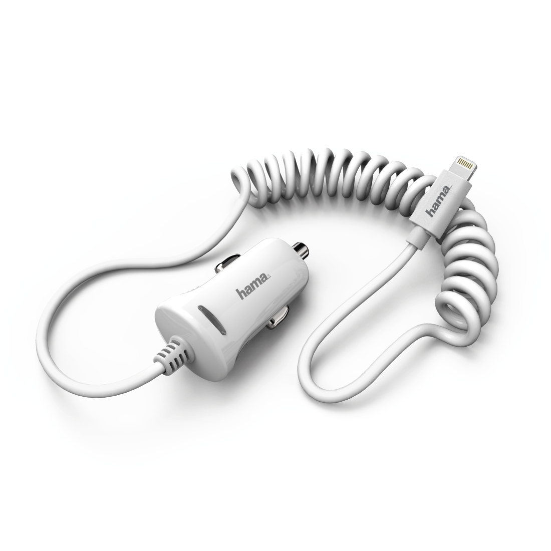 "abx High-Res Image - Hama, ""Lightning"" Car Charger, 2.4 A, white"