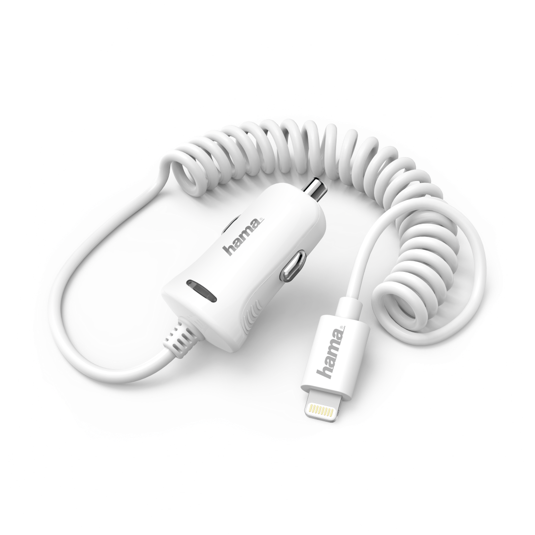 "abx3 High-Res Image 3 - Hama, ""Lightning"" Car Charger, 2.4 A, white"