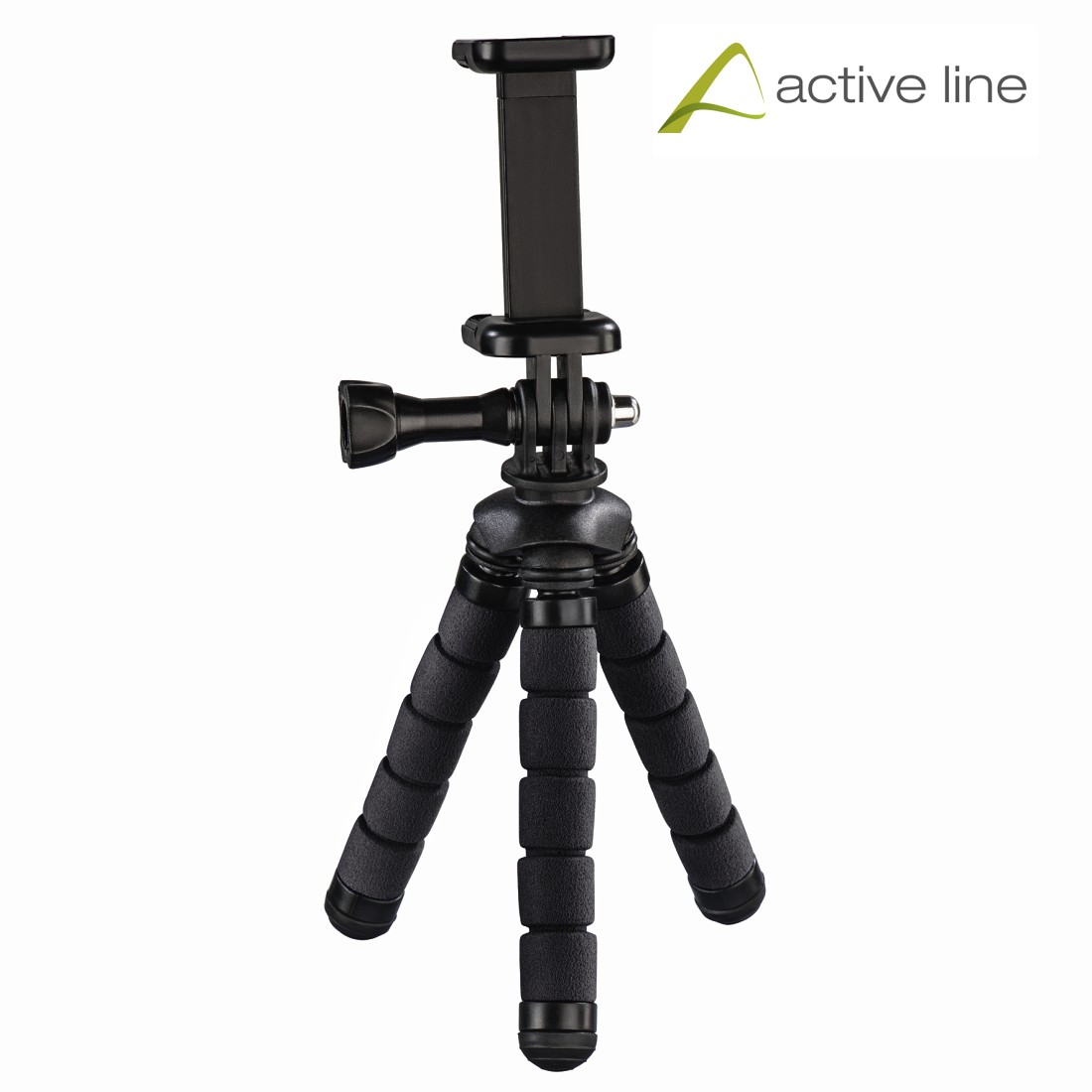 "uax Printable Image Logo - Hama, ""Flex"" Mini Tripod for Smartphones & GoPro Devices, 5.5- 7.8 cm"
