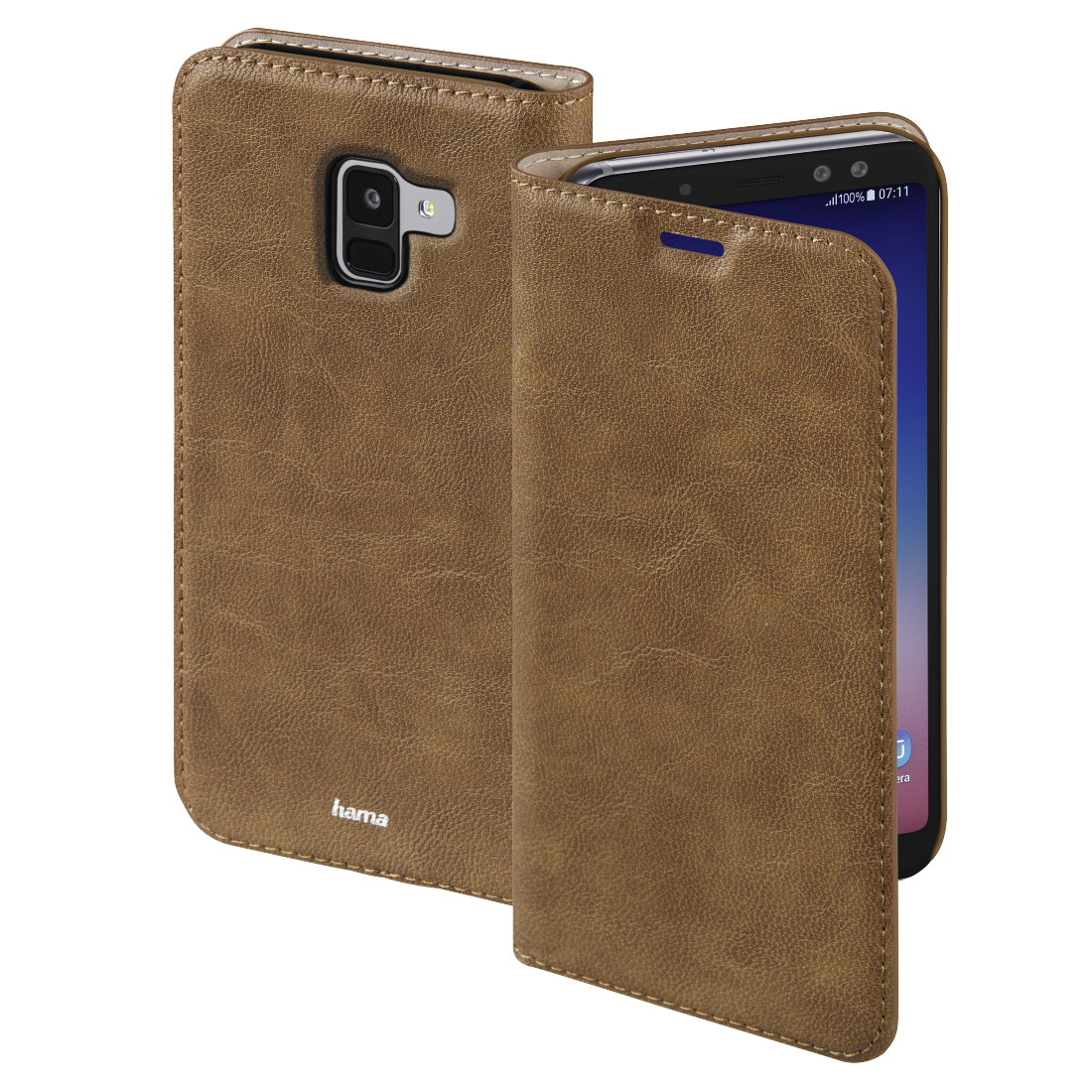 abx High-Res Image - Hama, Guard Case Booklet for Samsung Galaxy A8 (2018), brown
