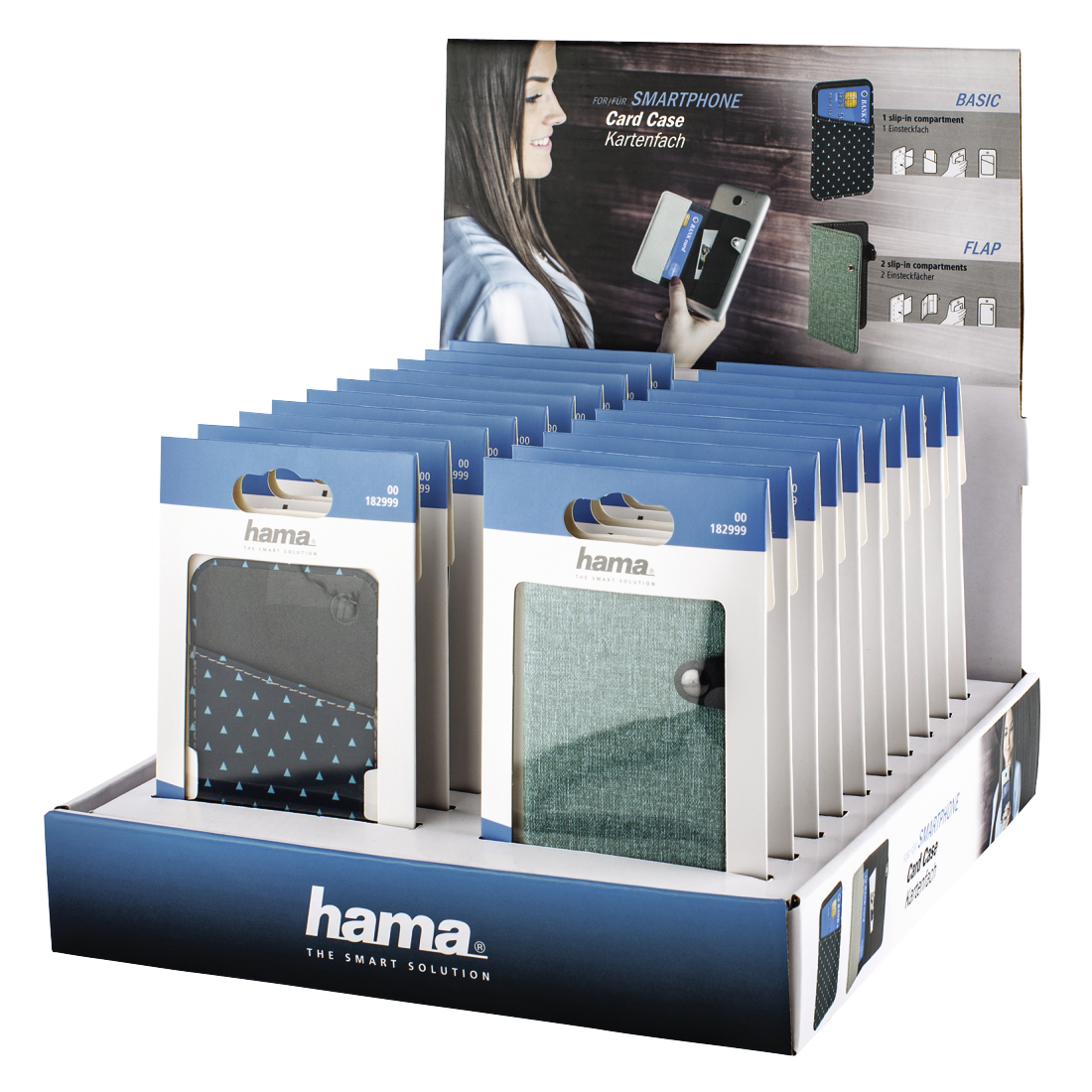 "abx High-Res Image - Hama, ""Card Case"" Smartphone Card Compartment, Universal, 20 Pcs. in Display"