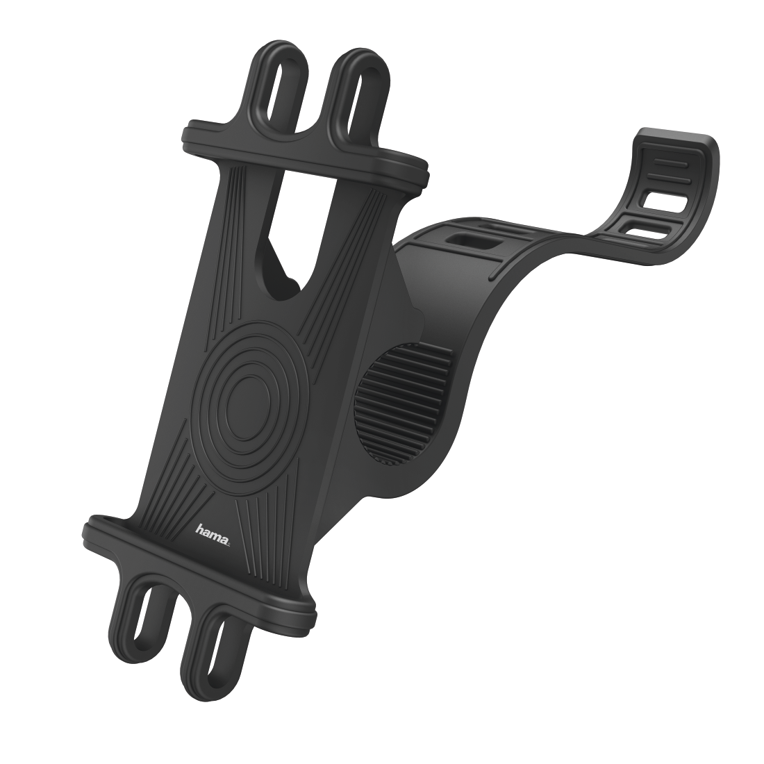 abx3 High-Res Image 3 - Hama, Universal Smartphone Bike Holder for Devices 6-8 cm Wide and 13-15 cm High