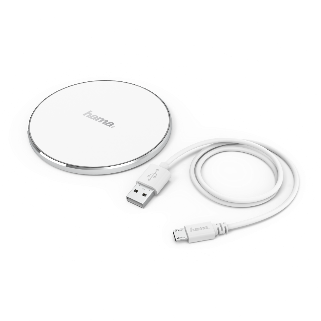 "abx High-Res Image - Hama, ""FC5 Alu"" Wireless Charger, white"