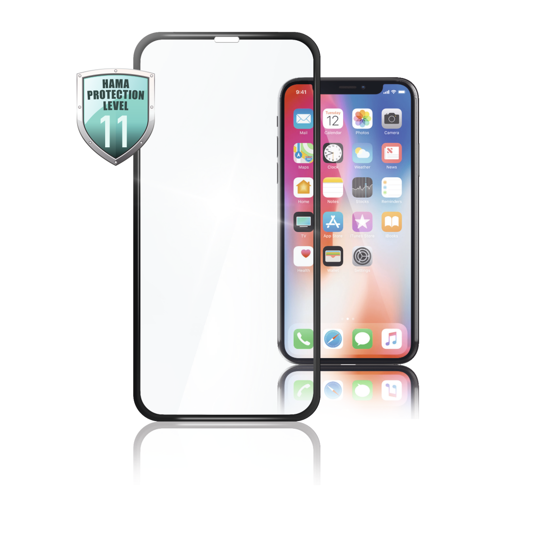 abx High-Res Image - Hama, 3D Full Screen Protective Glass for Apple iPhone Xs Max, black